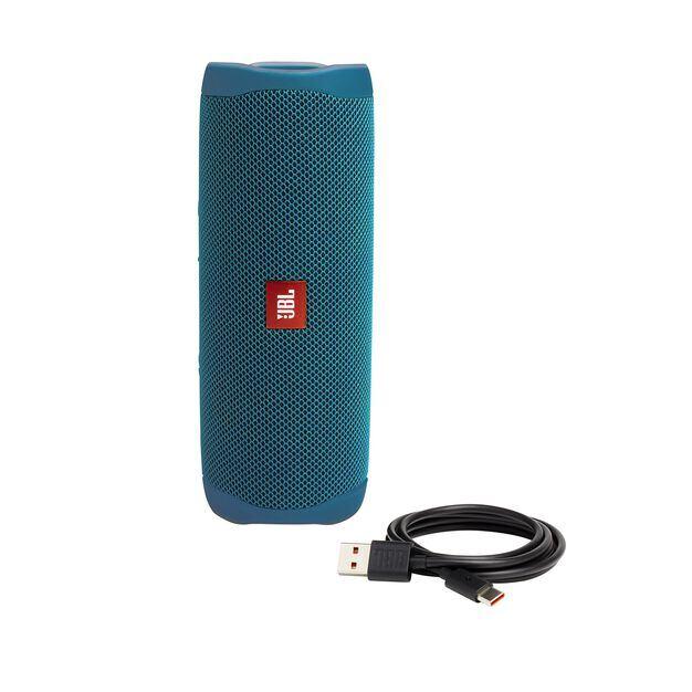 JBL Flip 5 Eco edition - Ocean Blue - Portable Speaker - Eco edition - Detailshot 2