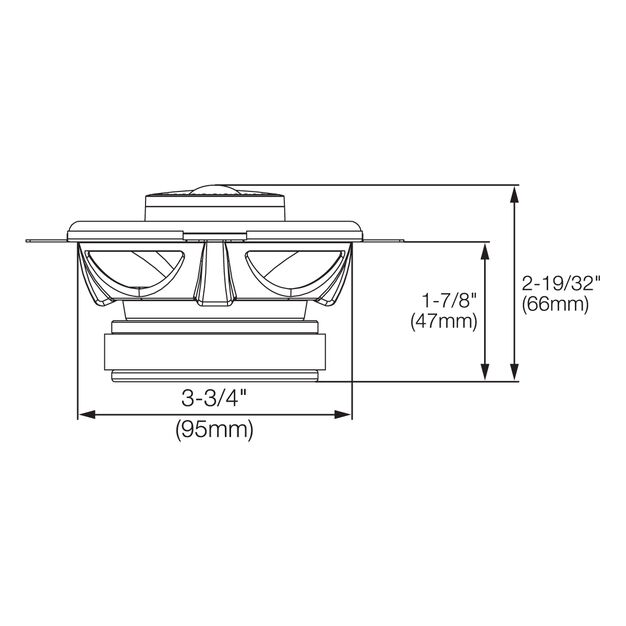 "GX402 - Black - 4"" coaxial car audio loudspeaker. 105W - Detailshot 1"
