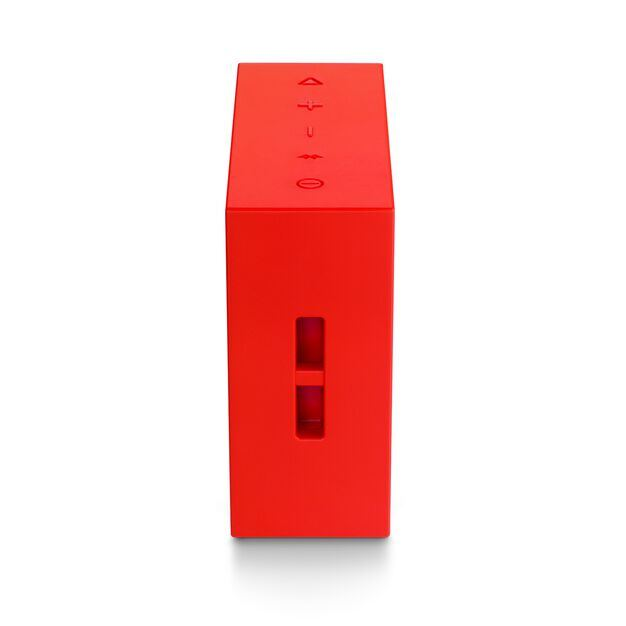 JBL GO+ - Red - Portable Bluetooth® Speaker - Detailshot 1