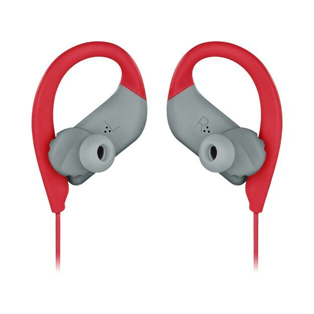 JBL Endurance SPRINT - Red - Waterproof Wireless In-Ear Sport Headphones - Detailshot 3