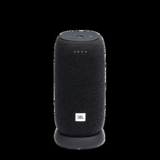 JBL Link Portable - Black - Portable Wi-Fi Speaker - Hero