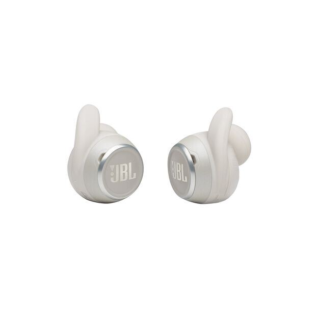 JBL Reflect Mini NC - White - Waterproof True Wireless In-Ear NC Sport Headphones - Detailshot 1