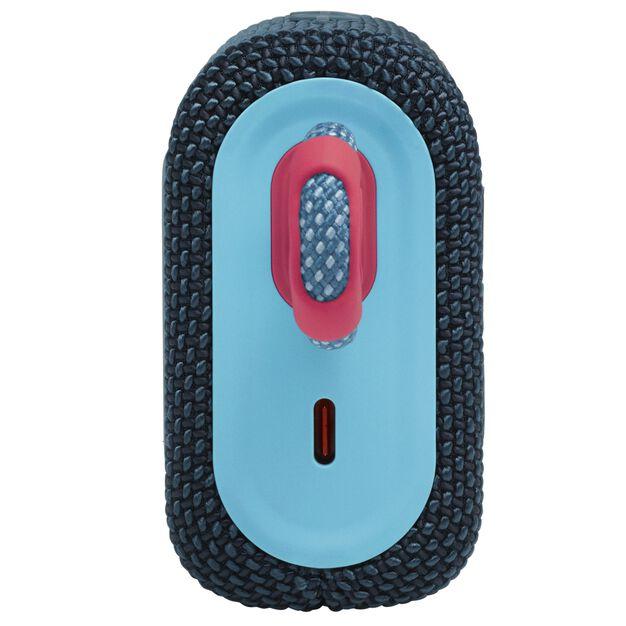 JBL GO 3 - Blue / Pink - Portable Waterproof Speaker - Left