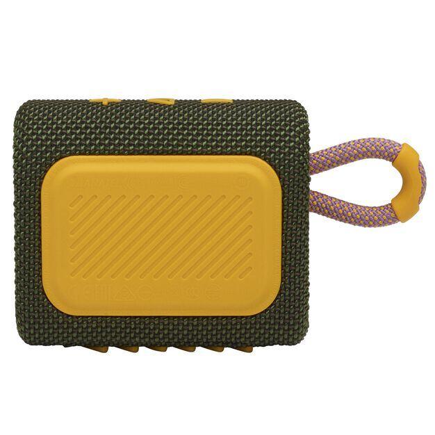 JBL GO 3 - Green - Portable Waterproof Speaker - Back