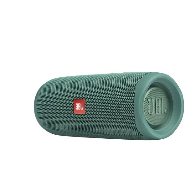 JBL Flip 5 Eco edition - Forest Green - Portable Speaker - Eco edition - Left