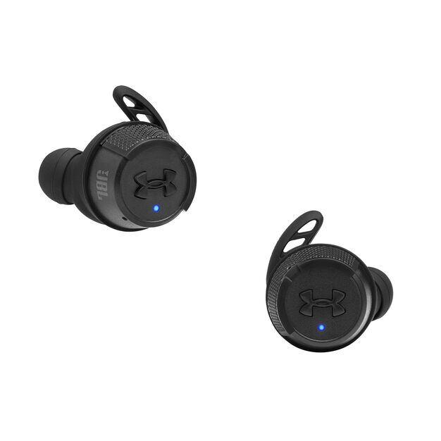 UA True Wireless Flash X - Engineered by JBL - Black - In-Ear Sport Headphones - Front