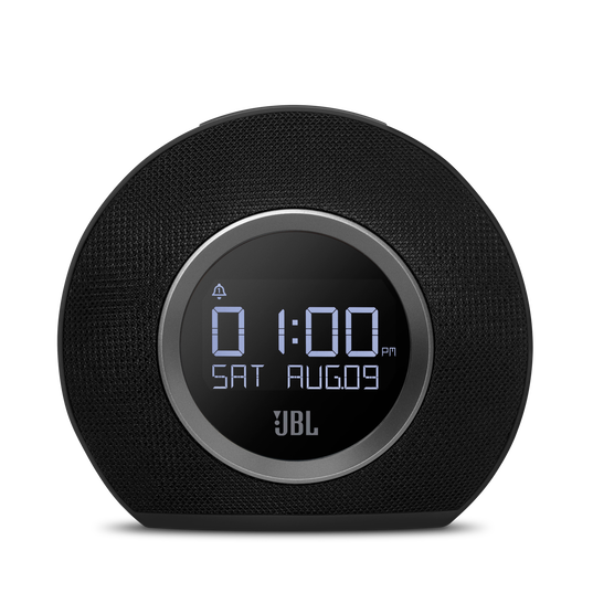 JBL Horizon - Black - Bluetooth clock radio with USB charging and ambient light - Front