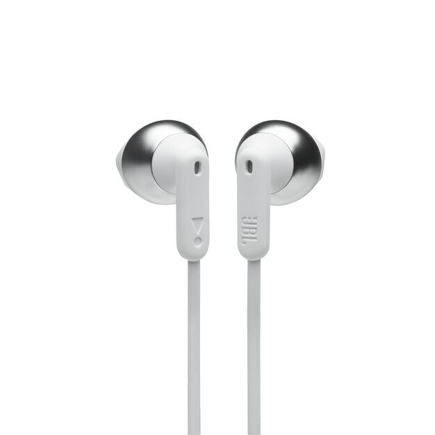 JBL TUNE 215BT - White - Wireless Earbud headphones - Front