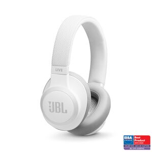 JBL LIVE 650BTNC - White - Wireless Over-Ear Noise-Cancelling Headphones - Hero