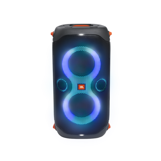 JBL Partybox 110 - Black - Portable party speaker with 160W powerful sound, built-in lights and splashproof design. - Front