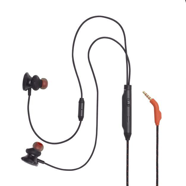 JBL Quantum 50 - Black - Wired in-ear gaming headset with volume slider and mic mute - Detailshot 2
