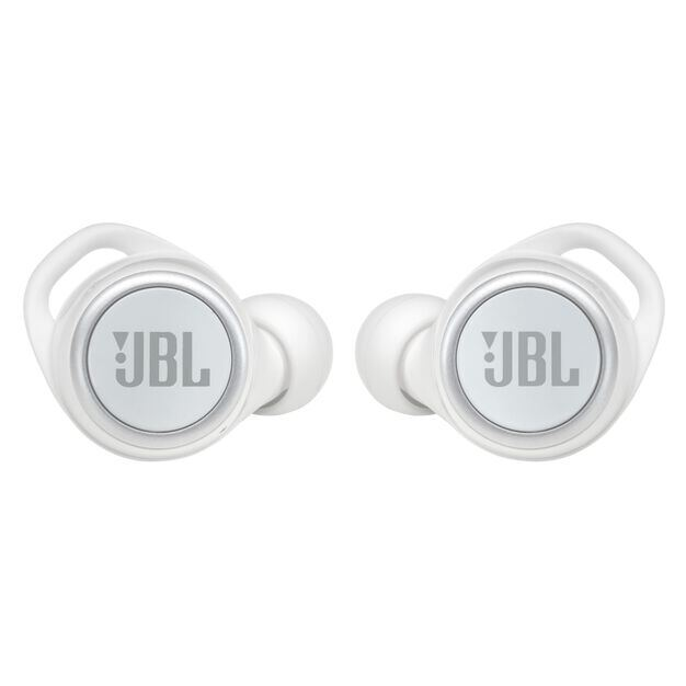 JBL LIVE 300TWS - White Gloss - True wireless in-ear headphones with Smart Ambient - Front