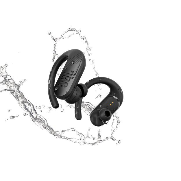 JBL Endurance Peak II - Black - Waterproof True Wireless In-Ear Sport Headphones - Front