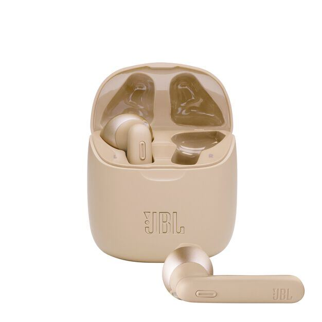 JBL Tune 225TWS - Gold - True wireless earbud headphones - Hero