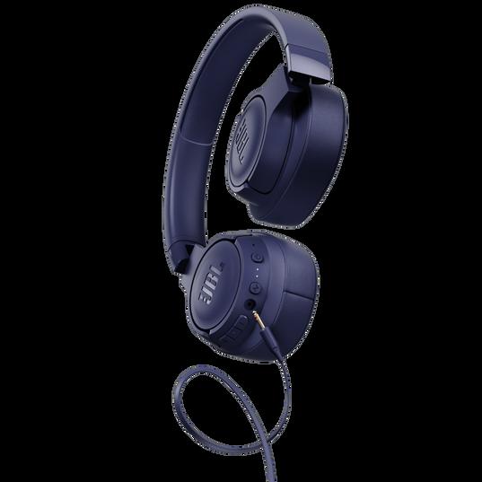 JBL TUNE 750BTNC - Blue - Wireless Over-Ear ANC Headphones - Detailshot 7