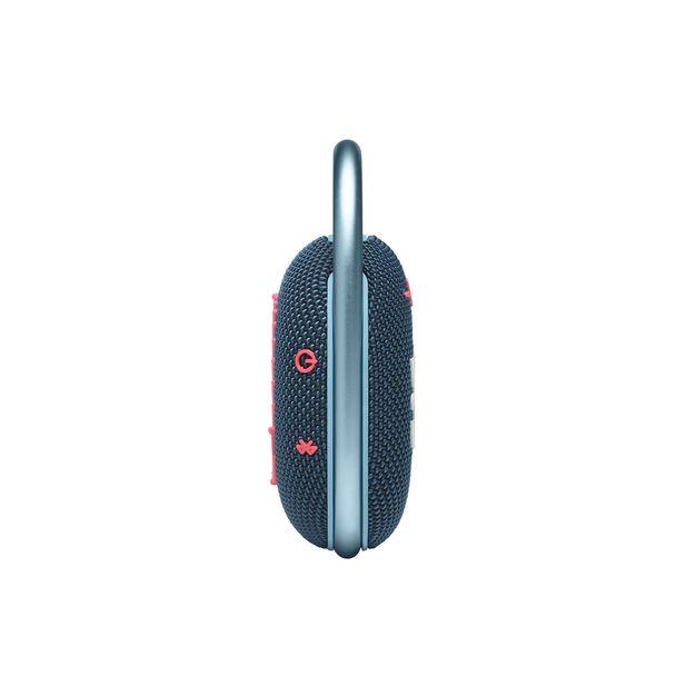 JBL CLIP 4 - Blue / Pink - Ultra-portable Waterproof Speaker - Left