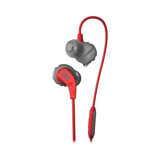 JBL Endurance RUN - Red - Sweatproof Wired Sport In-Ear Headphones - Hero