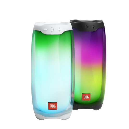 JBL Pulse 4 - White - Portable Bluetooth Speaker - Detailshot 1