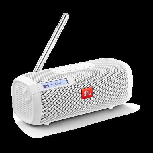 JBL Tuner - White - Portable Bluetooth Speaker with DAB/FM radio - Hero