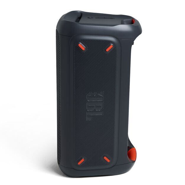 JBL PartyBox 100 - Black - Powerful portable Bluetooth party speaker with dynamic light show - Left