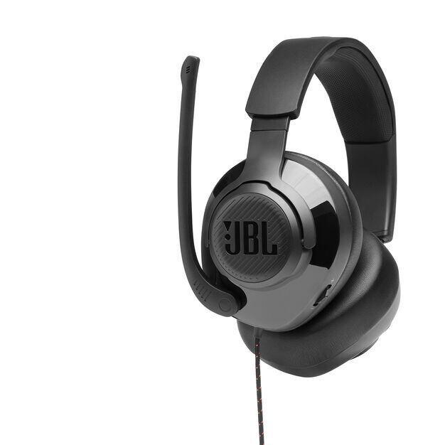 JBL Quantum 300 - Black - Hybrid wired over-ear gaming headset with flip-up mic - Detailshot 4