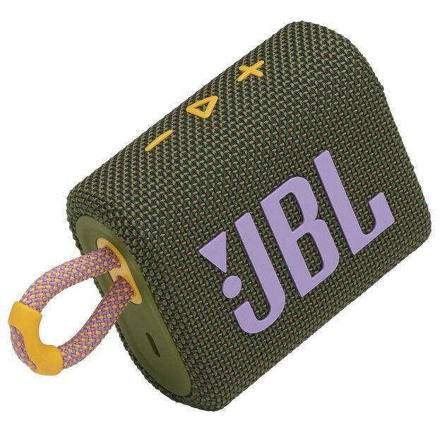 JBL GO 3 - Green - Portable Waterproof Speaker - Detailshot 1