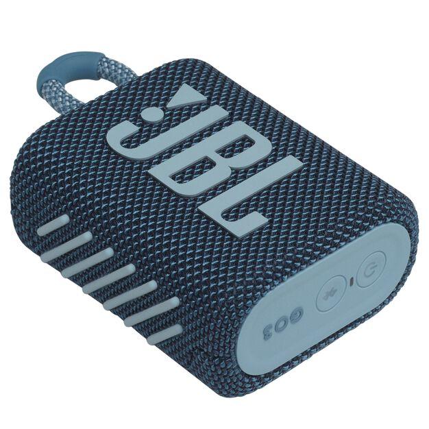 JBL GO 3 - Blue - Portable Waterproof Speaker - Detailshot 3