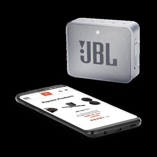 JBL GO 2 - Ash Gray - Portable Bluetooth speaker - Detailshot 3